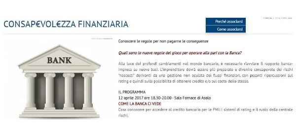 convegno confartigianato asolo unicredit strategia bancaria 12 aprile 2017