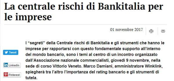 evento centrale rischi banca italia ferrara